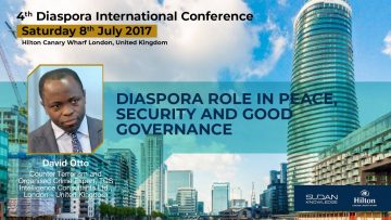 Diaspora role in peace, security and good governance. David Otto